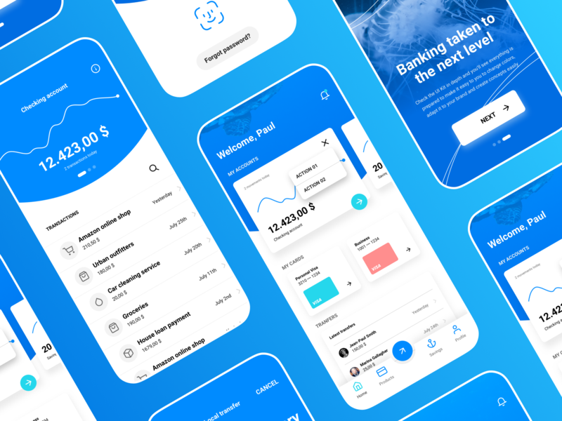 Siren UI Kit – Modern Banking App #04 fintech cryptocurrency financial bank siren ui8 kit typography design mobile ux sketch dashboard ui app banking
