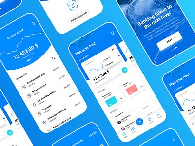 Siren UI Kit – Modern Banking App #04 fintech cryptocurrency financial bank siren ui8 kit typography design mobile ux sketch dashboard ui app banking
