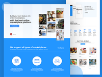 Marketplace Product Homepage Design