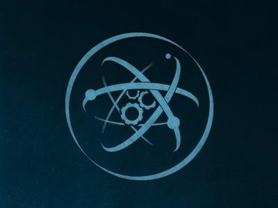 Atomworks Logo logo atomic atom cogs