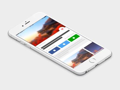 Card Interaction - Quick Prototype concept app design ios app prototype principle app principleapp app interaction design