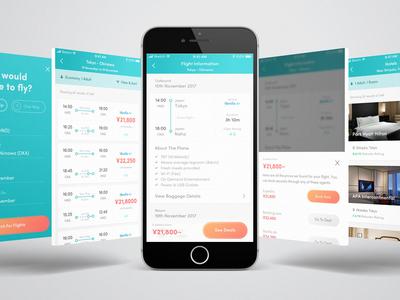 Flight Meta Search Concept concept ios app ui ux app booking app booking travel app