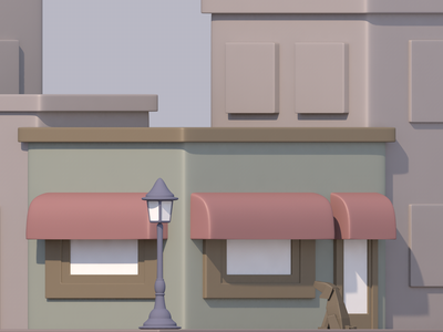 Dog store dog store 3d c4d