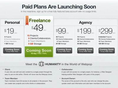 Plans   pricing   webpop