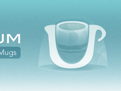 Mug Store store icon texture blue webpop
