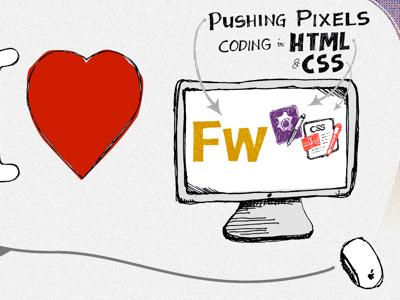 Web Design Love web design fireworks css html cssedit textmate apple mac heart