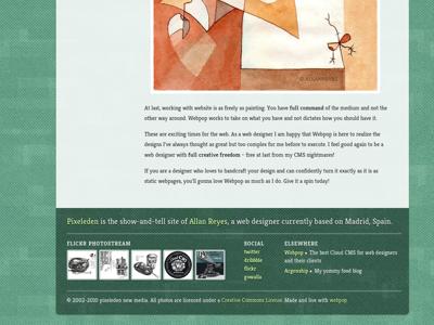 PixEleven pixeleden redesign blog green