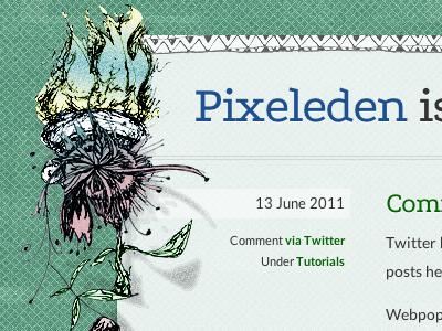 Pixeleden Redesign Details pixeleden ink drawing redesign webpop