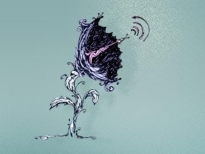 Satdish Flora pixeleden redesign illustration drawing ink