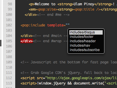 Editor & Auto Complete webpop cloud app cms live