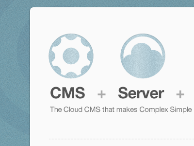 Upcoming… cloud web app cms redesign