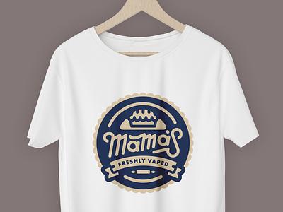 Mama's! white badge logo t-shirt mamas mama