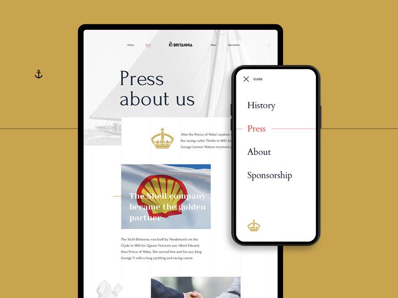 K1 Britannia yacht website adaptive mobile app yacht see inspiration interction interface design interactive ux ui website