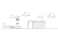 Hangar Illustration