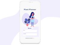 [Daily UI 001] Plant Planner Signup