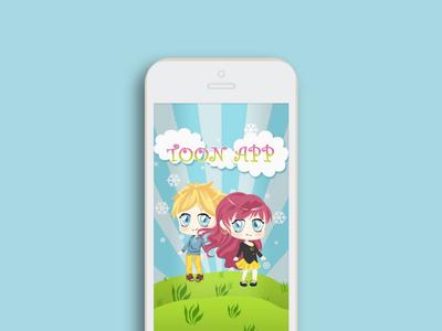 Tooniks App branding design app interaction design ux mobile app illustration ios app design