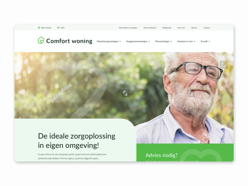 Comfort Woning picture website homepage webdesign