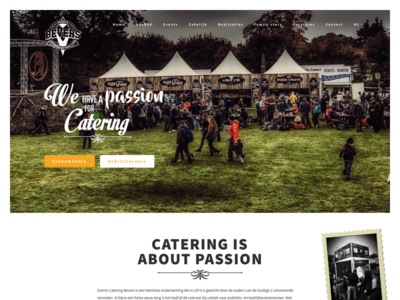 Catering Bevers events hospitality catering webdesign ui homepage