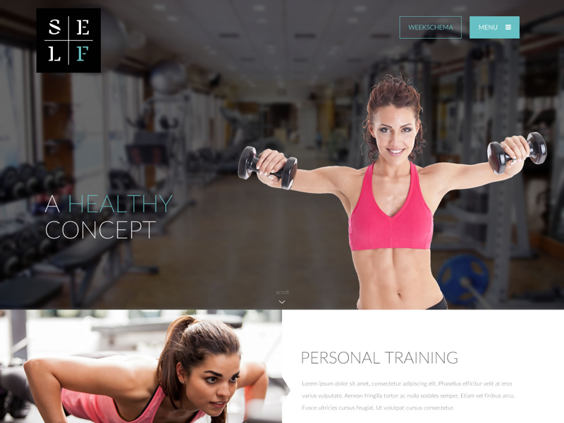 Self Fitness health fitness webdesign ui homepage