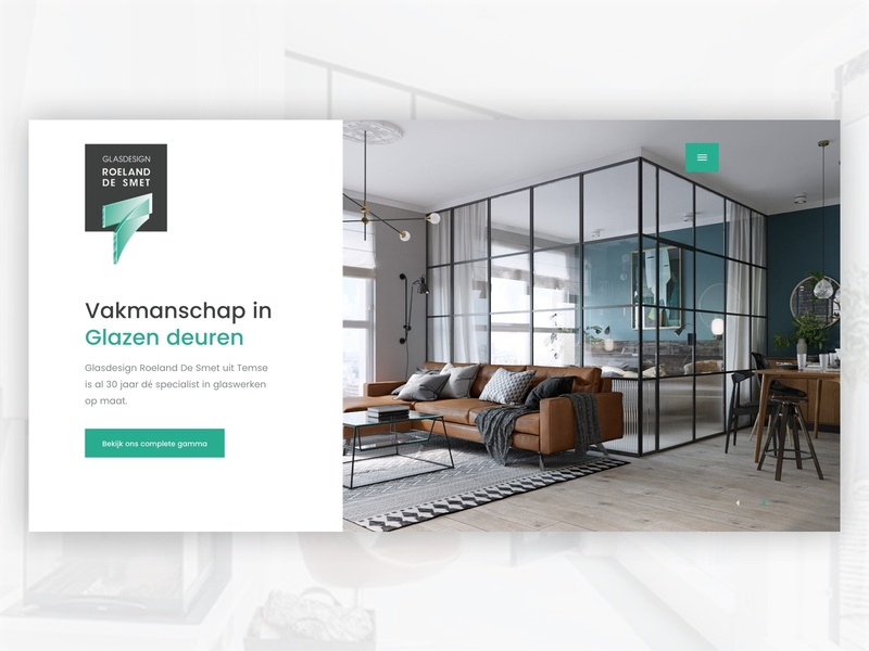 Dribbble   Roeland De Smet big picture glass webdesign picture homepage