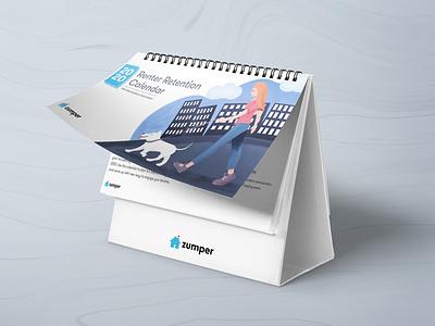 Zumper 2020 Renter Retention Calendar typography vector print illustration graphic design