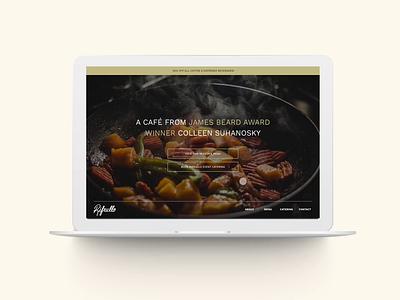 Rifrullo Microsite UI Animation vector animation typography website design web brand identity design ux ui branding