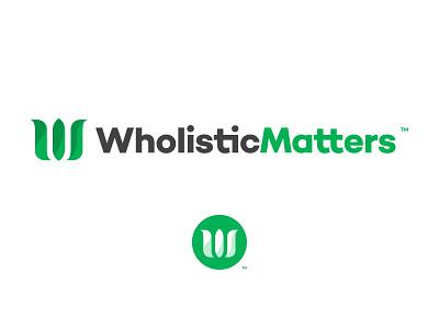 WholisticMatters 2017–2020 Branding type logo logo design design vector print brand identity graphic design typography branding