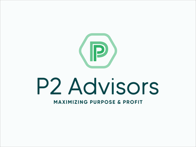 P2 Advisors Branding logo logo design vector design brand identity graphic design typography branding