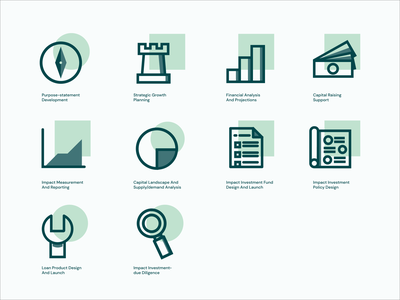 P2 Advisors Icon Set illustration logo icon vector design brand identity graphic design branding