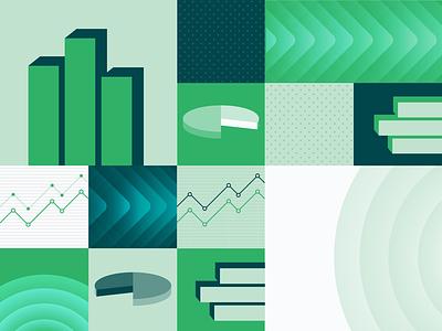 P2 Advisors Graphic Assets & Pattern flat green icon branding