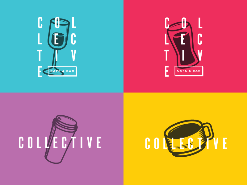 Collective: New Identity Color Process logo-design logo branding