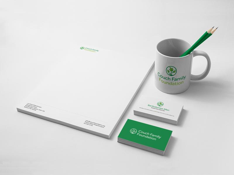 Couch Family Foundation Brand Stationery print logo design branding brand identity