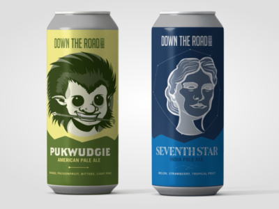 Down The Road Brewery: Label System Design Concept
