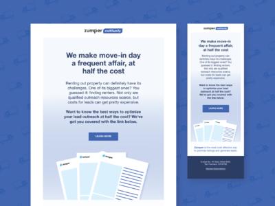 Zumper Multi-Family Email Blast Design