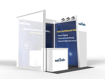 NetBrain Technologies: VM EMA 2019 Booth typography design graphic design 3d exhibition booth design booth design tradeshow print branding