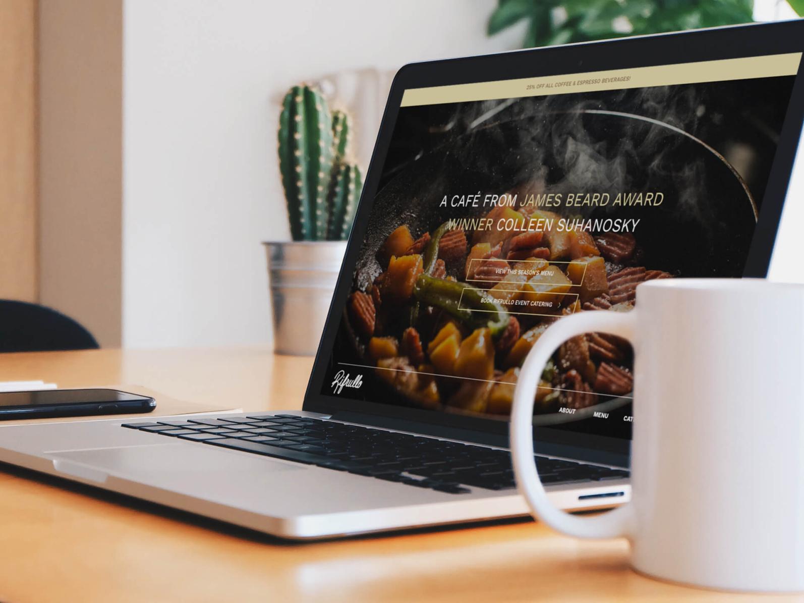 Rifrullo website desktop