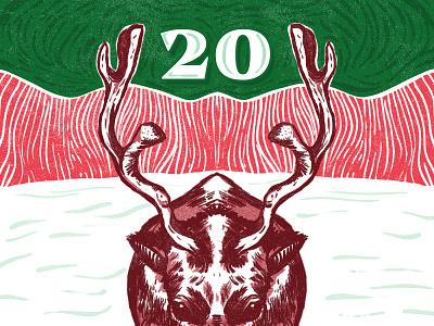 BSDS Advent Calendar Challenge type typography digital illustrations digital art illustration print
