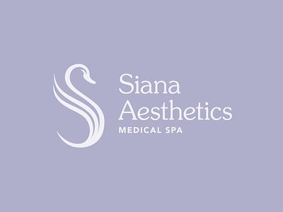 Siana Aesthetics Medical Spa Logo Concepts type icon design logo design vector graphic design typography logo brand identity branding
