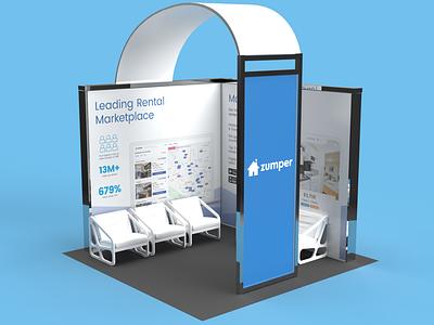 Zumper 2020 AIM Booth Design 3d marketing tradeshow tradeshow booth design print graphic design branding