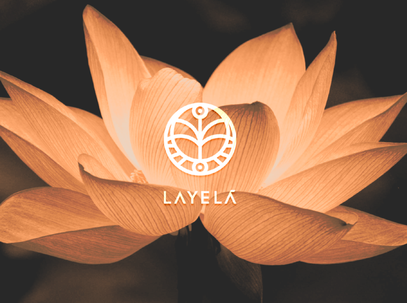 Layelá - Flower and Garden Decor Shop flowers minimal graphicdesign design logo brand branding