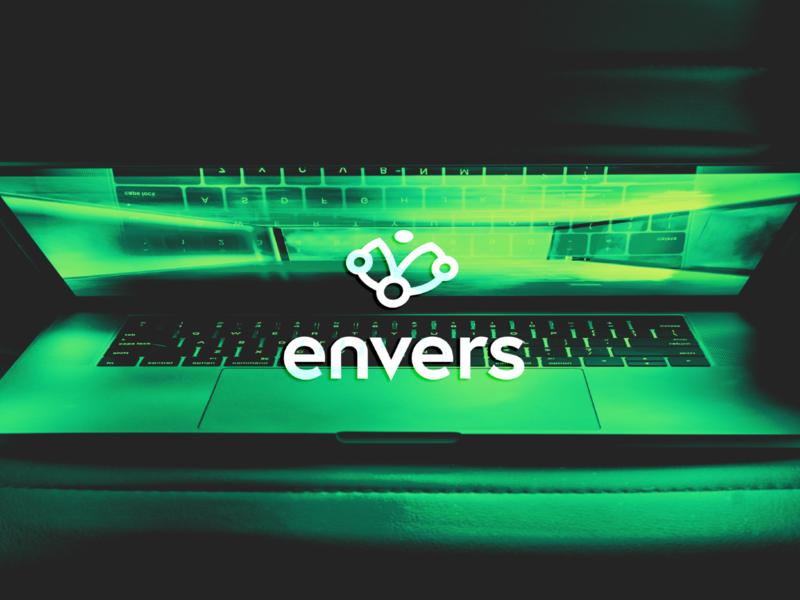 Envers - Online Services Platform tech online minimal logo graphicdesign design branding brand