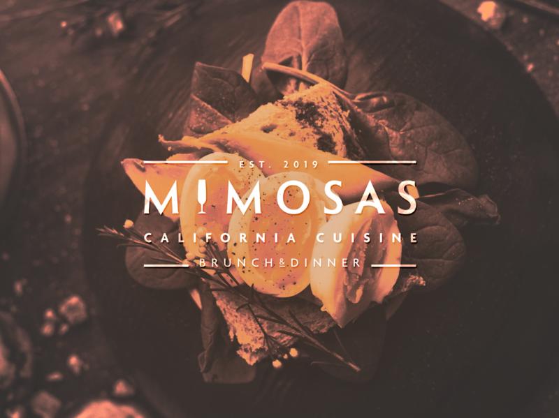 Mimosas - Brunch & Dinner Restaurant restaurant minimal graphicdesign design logo branding brand