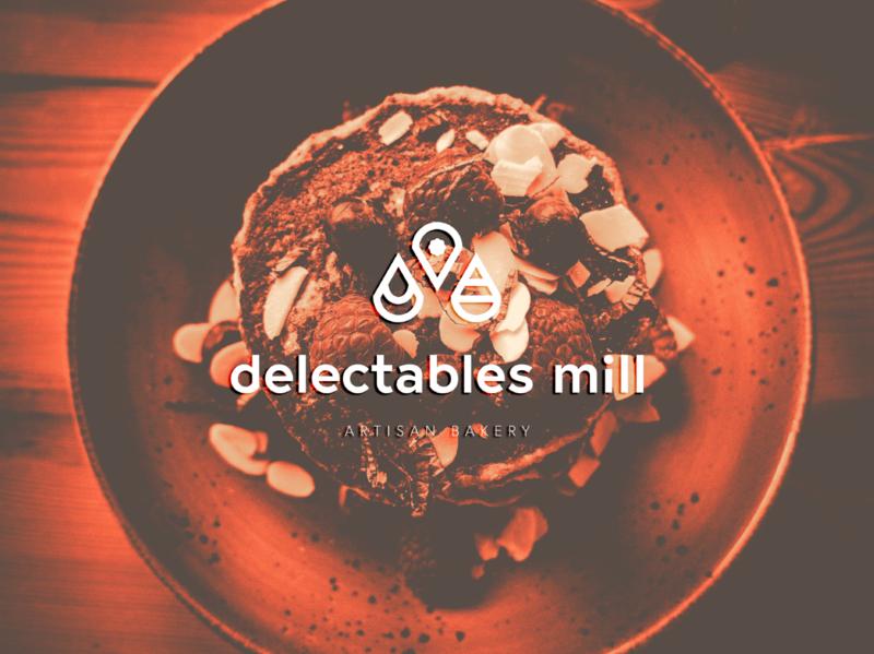 Delectables Mill - Artisan Bakery bakery minimal graphicdesign design logo branding brand