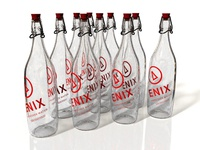 Enix Hangover Water - Bowling Pins, Side View