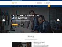 Pexer - Business & Corporate PSD Template