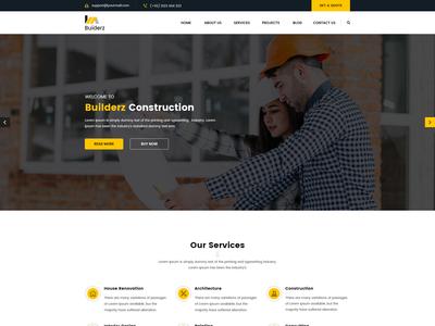 Builderz - Construction PSD Template