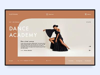 Dance Studio Website advertising informative hero banner website dance fashion
