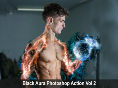 Black aura photoshop action vol 2