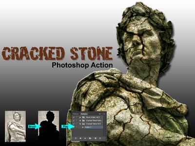 Amazing Cracked Stone Photoshop Action