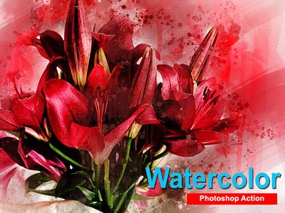 Amazing Watercolor Photoshop Action